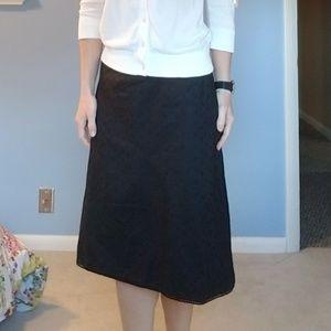Worthington Black Skirt Size 4. Beautiful Detail.